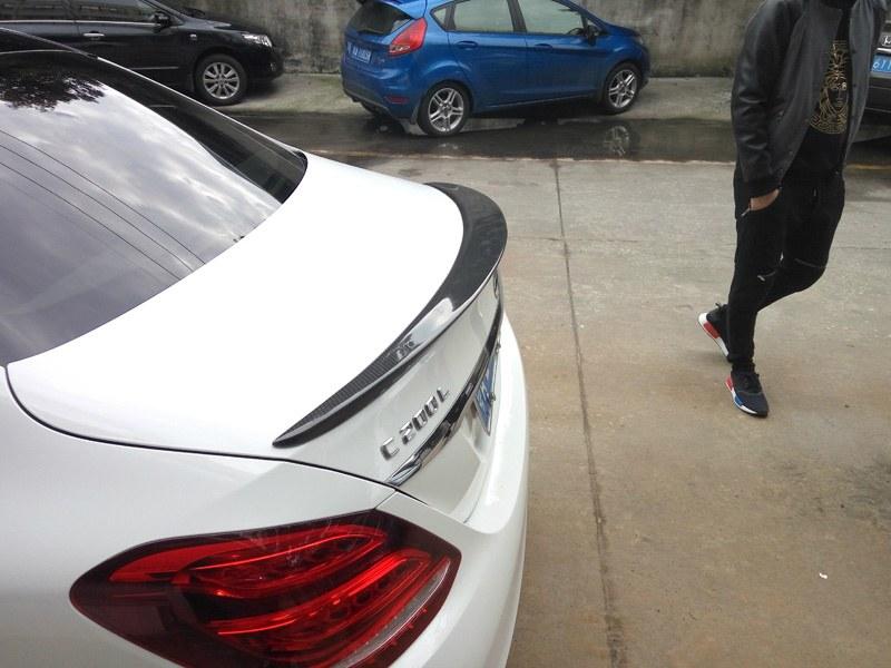 Lotka Lip Spoiler - Mercedes-Benz C W205 Carbon - GRUBYGARAGE - Sklep Tuningowy